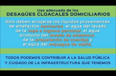 Embedded thumbnail for Campaña de uso racional de la red cloacal